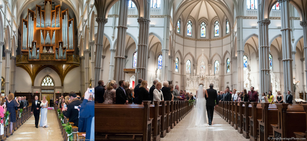 Duquesne University Ballroom Pittsburgh Wedding Ceremony: Grand Cathedral Bridal Entrance