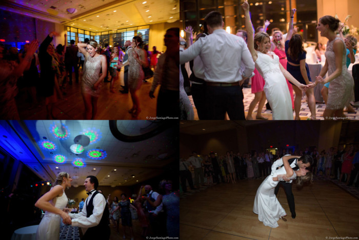 Duquesne University Ballroom Pittsburgh Wedding Reception: Couple Enjoying Dance Floor