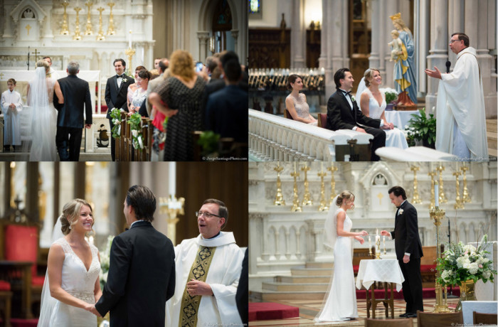 Duquesne University Ballroom Pittsburgh Wedding Ceremony: Traditional Catholic Ceremony