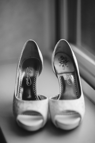 Hilton Garden Inn Southpointe Wedding: Peep Toe Satin Bridal Shoes