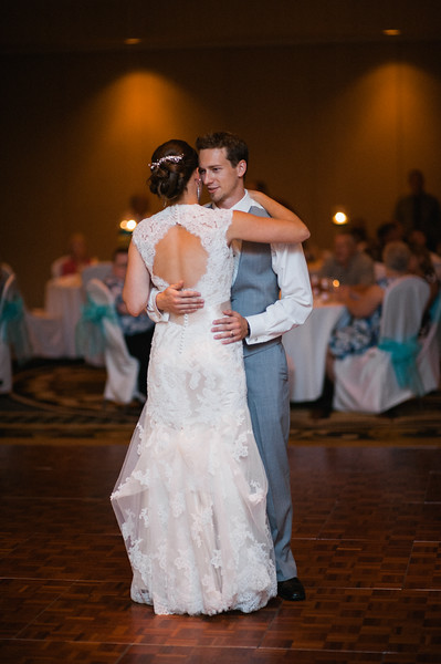 Hilton Garden Inn Southpointe Wedding Reception: Bride and Groom Slow Dance