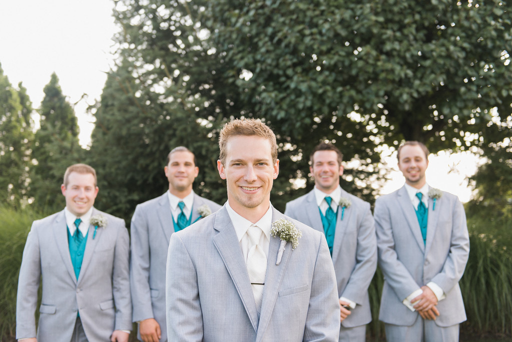 Hilton Garden Inn Southpointe Wedding: Grey Tuxedo Wedding Party