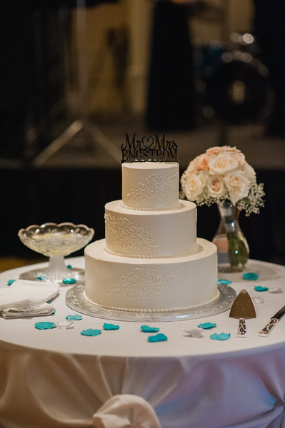 Hilton Garden Inn Southpointe Wedding Reception: 3-Tier Decorative Cake
