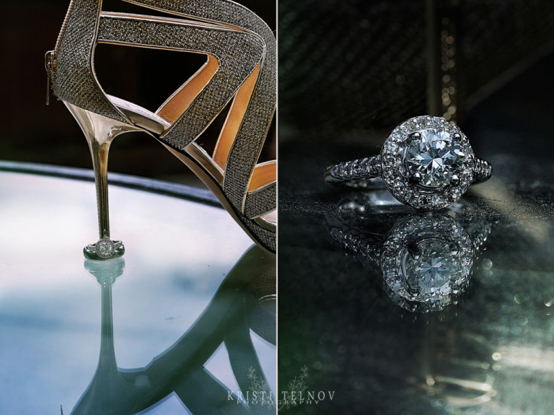 Renaissance Hotel Pittsburgh Wedding - Diamond Engagement Ring