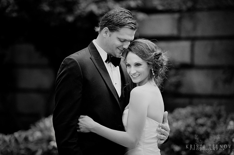 Renaissance Hotel Pittsburgh Wedding: Newlyweds Black and White Portrait
