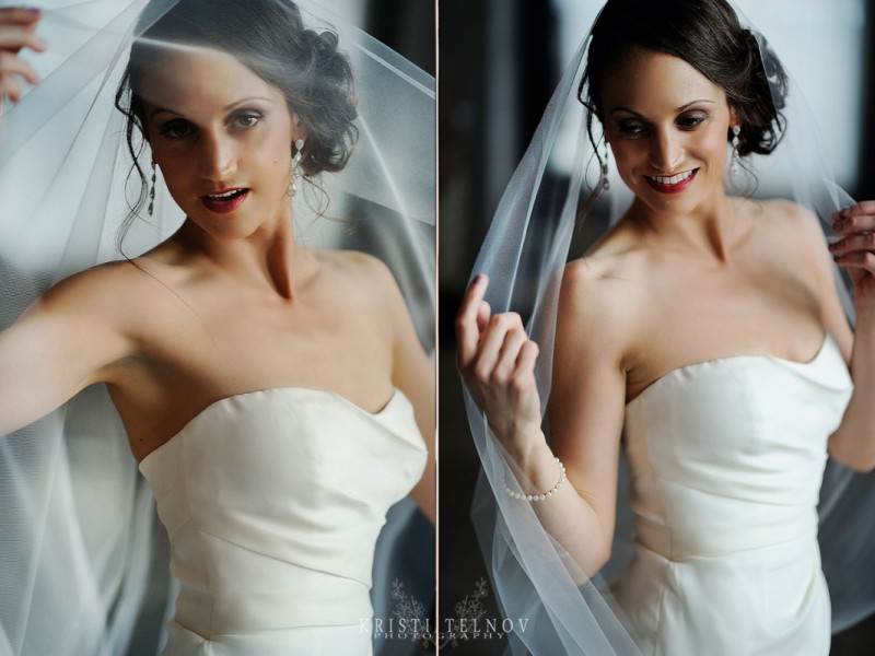 Renaissance Hotel Pittsburgh Wedding : Bride in Sweetheart Neckline Gown