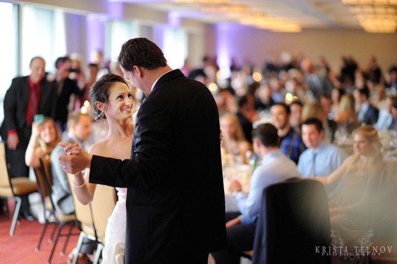 Renaissance Hotel Pittsburgh Wedding Reception: Bride and Groom Slow Dance