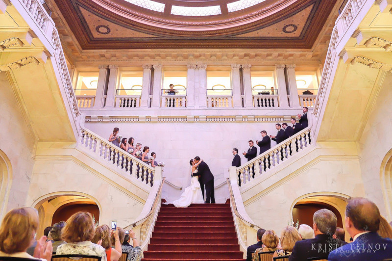 Renaissance Hotel Pittsburgh Wedding Ceremony: Pronounced Husband and Wife