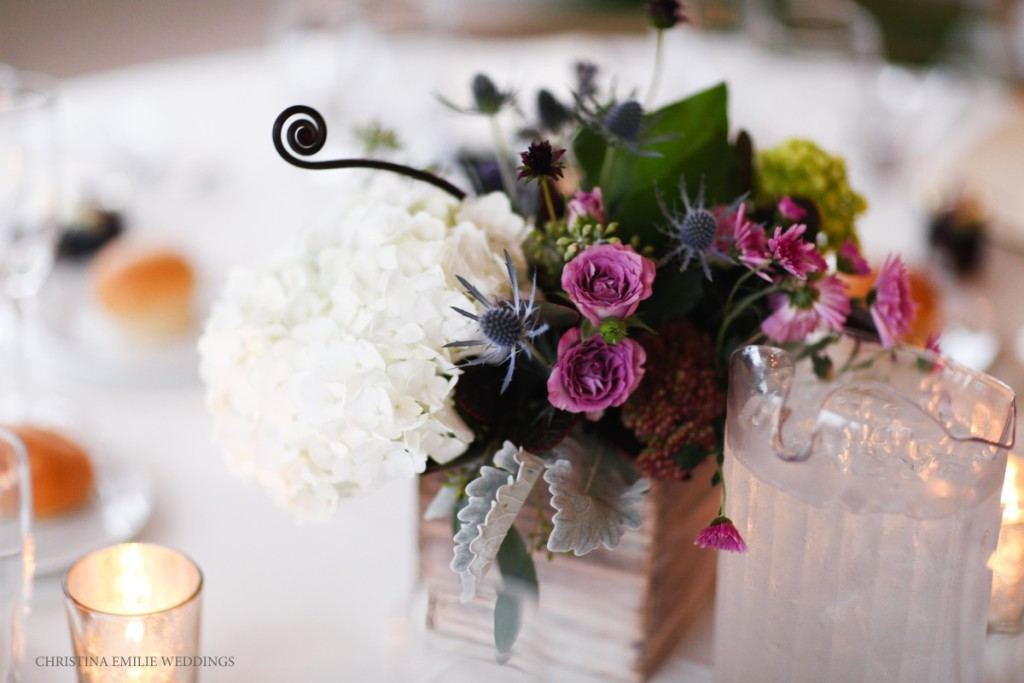 Rustic Acres Farm Wedding Reception Floral Arrangements