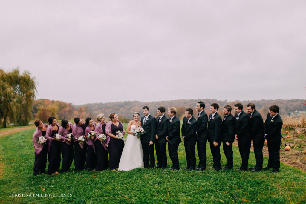 Rustic Acres Farm Outdoor Countryside Wedding Party Portrait