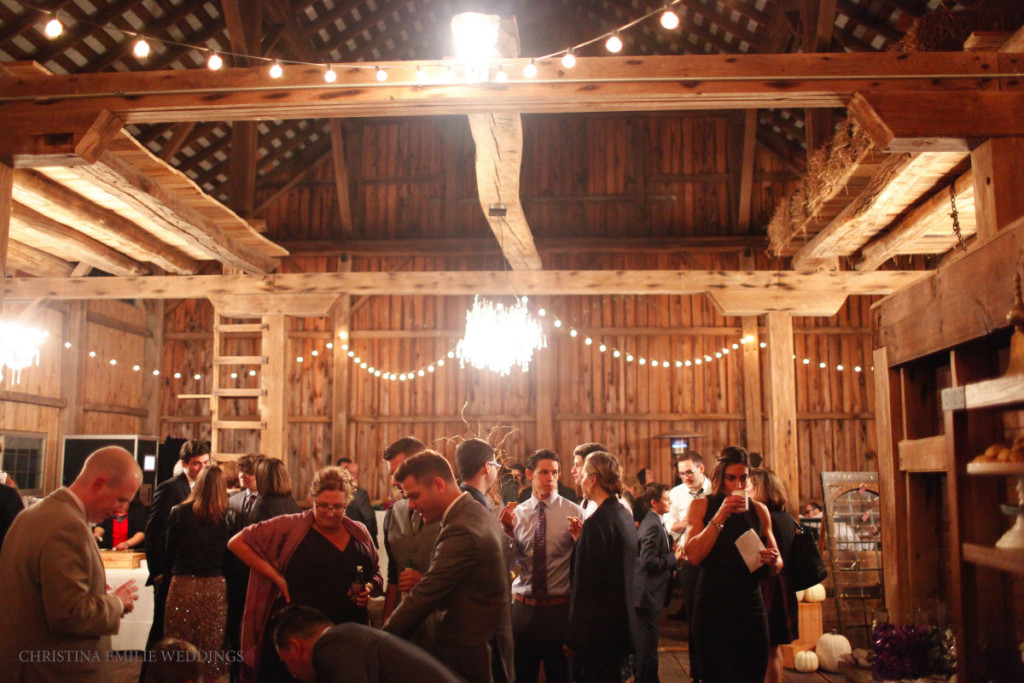 Rustic Acres Farm Cozy Chic Fall Reception Interior