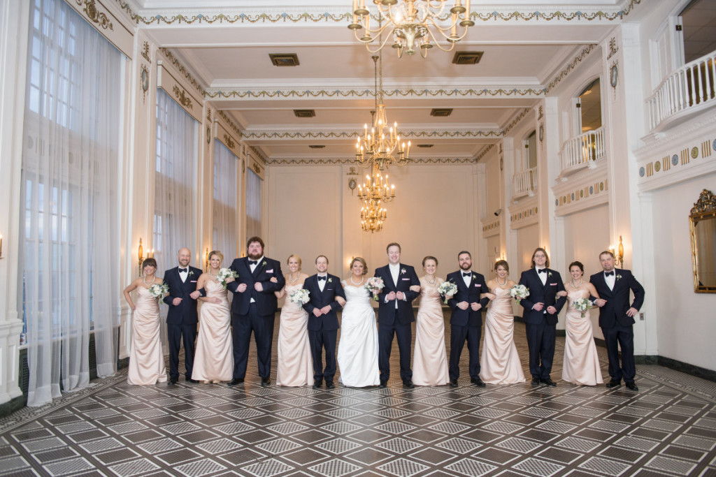 George Washington Hotel Pittsburgh Bridal Party Portrait Ballroom