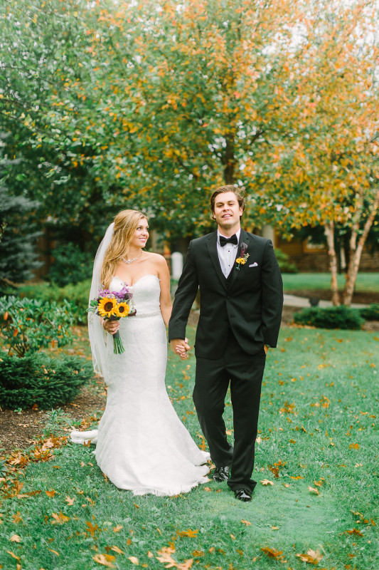 Wisp Resort McHenry MD Bride and Groom Outdoor Portrait Fall Wedding