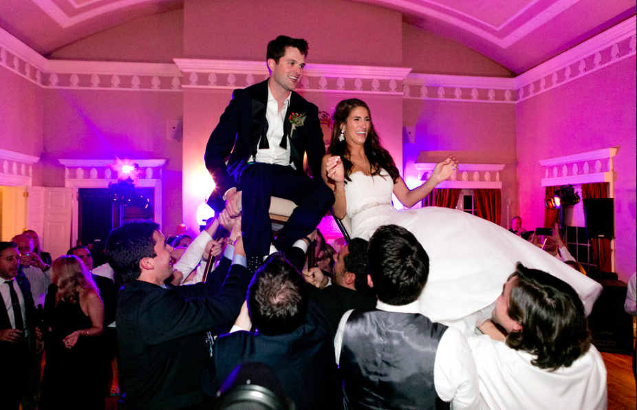 Fox Chapel Golf Club Bride and Groom Chair Dance Live Music