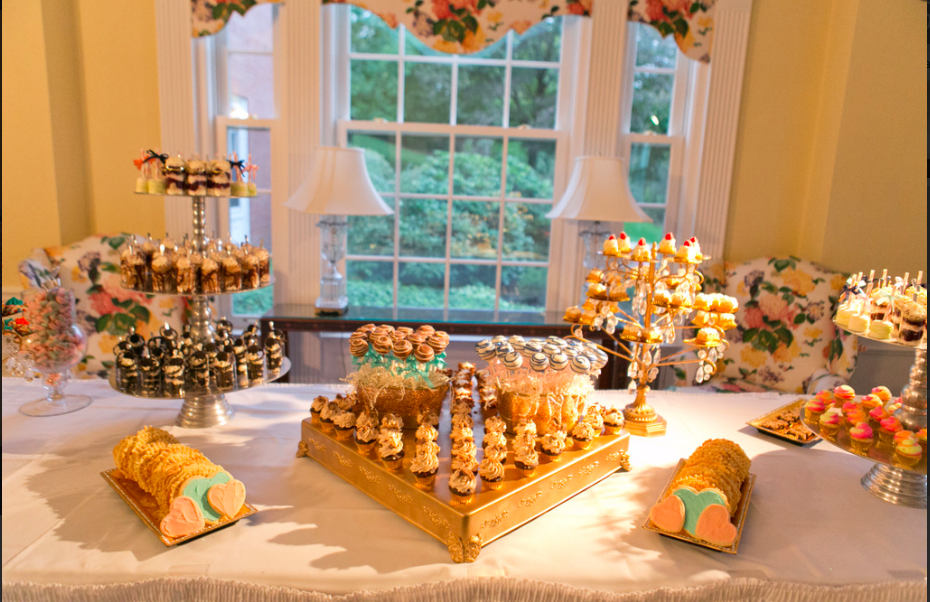 Fox Chapel Golf Club Pittsburgh Glam Wedding Dessert Table