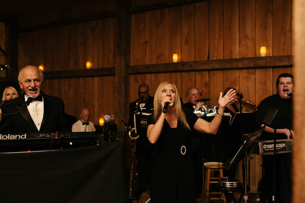 Pittsburgh White Barn Wedding Reception Dreamscape Live Band Singing
