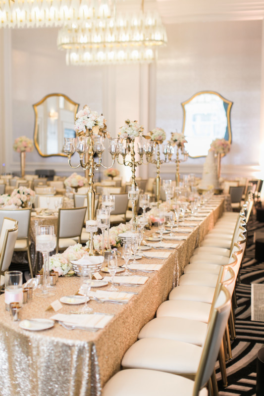 Hotel Monaco Pittsburgh Wedding Venue Space Long Tables