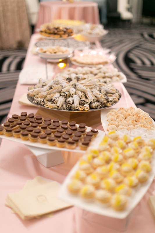 Hotel Monaco Wedding Sweets Table