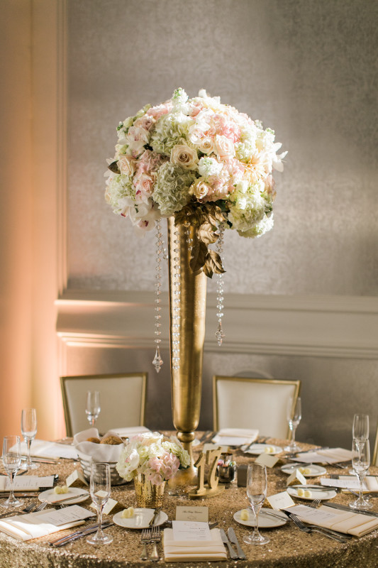 Hotel Monaco Pittsburgh Wedding Tall Flowers
