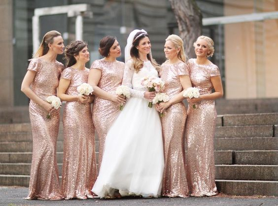 Carnegie Museum Pittsburgh Wedding Bride and Bridesmaids