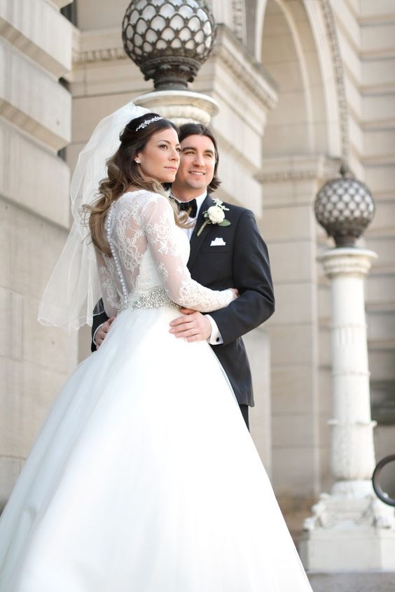Carnegie Museum Pittsburgh Wedding Bride and Groom Married