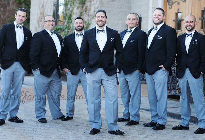 Shakespeare Restaurant Bridal Party Men