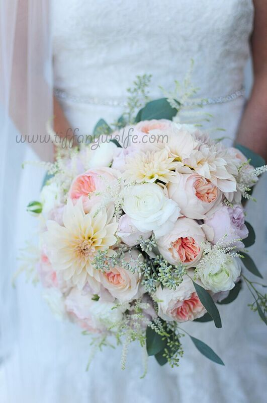 Shakespeare Restaurant Wedding Bridal Bouquet Close Up