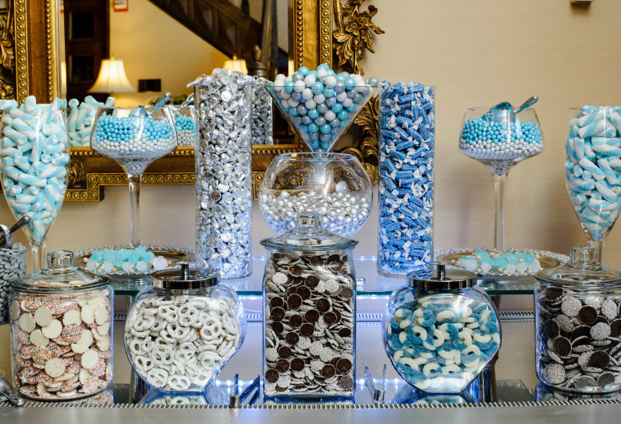 St Clair Country Club Wedding Candy Buffet