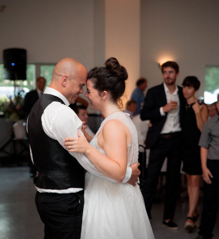 Bakersville Fire Hall Pittsburgh Wedding Bride and Groom First Dance