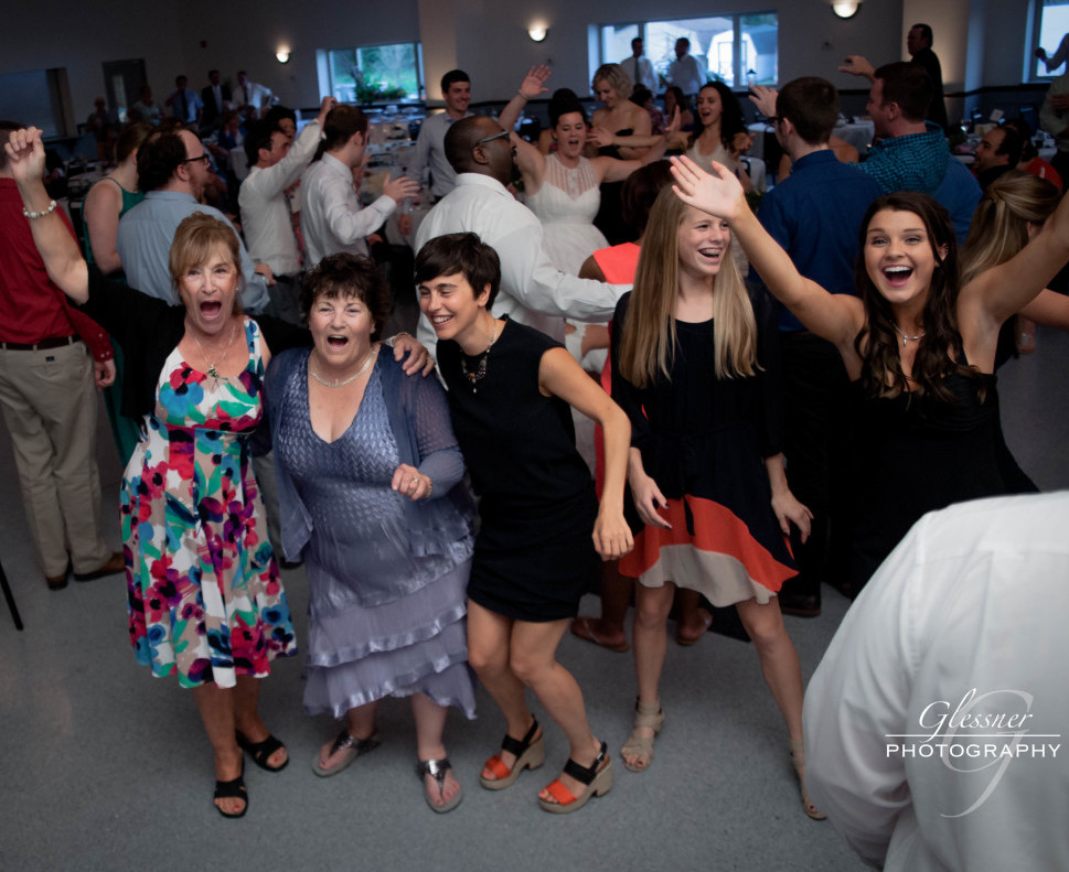 Bakersville Fire Hall Pittsburgh Wedding Guests Having Fun
