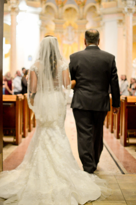 Parkersburg Country Club West Virginia Wedding Bride and Father