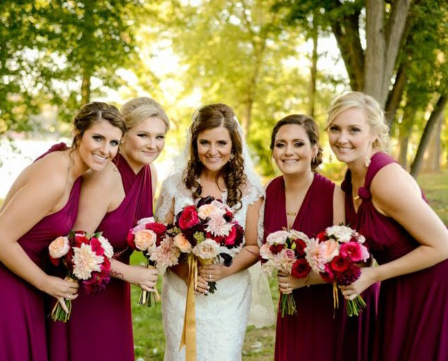Parkersburg Country Club West Virginia Wedding Bridesmaids