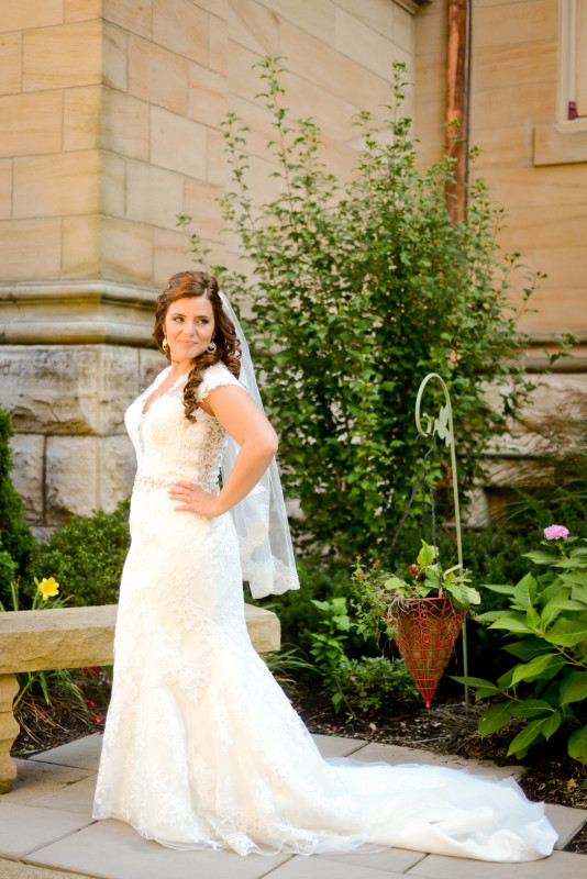 Parkersburg Country Club West Virginia Wedding Bridal Dress