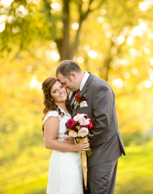 Parkersburg Country Club West Virginia Wedding Bride and Groom Outside