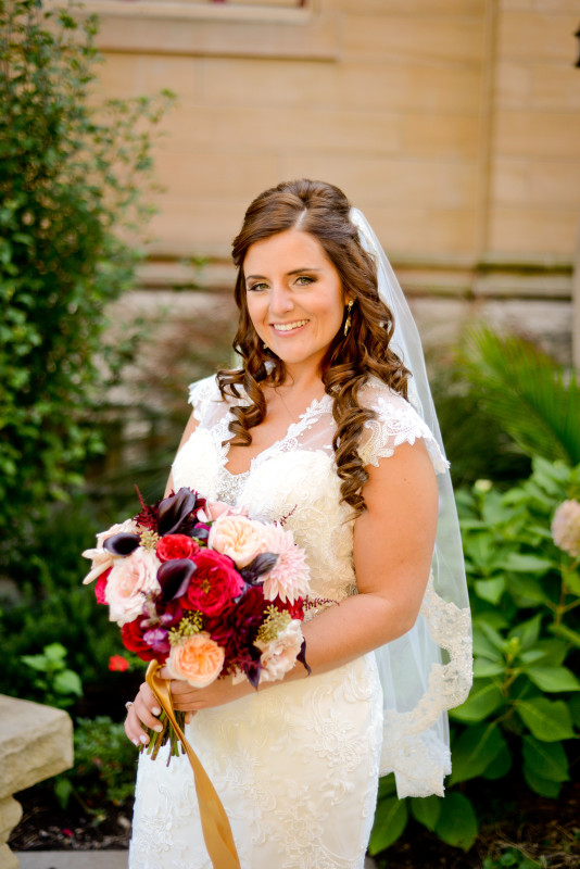 Parkersburg Country Club West Virginia Wedding Bride Alone