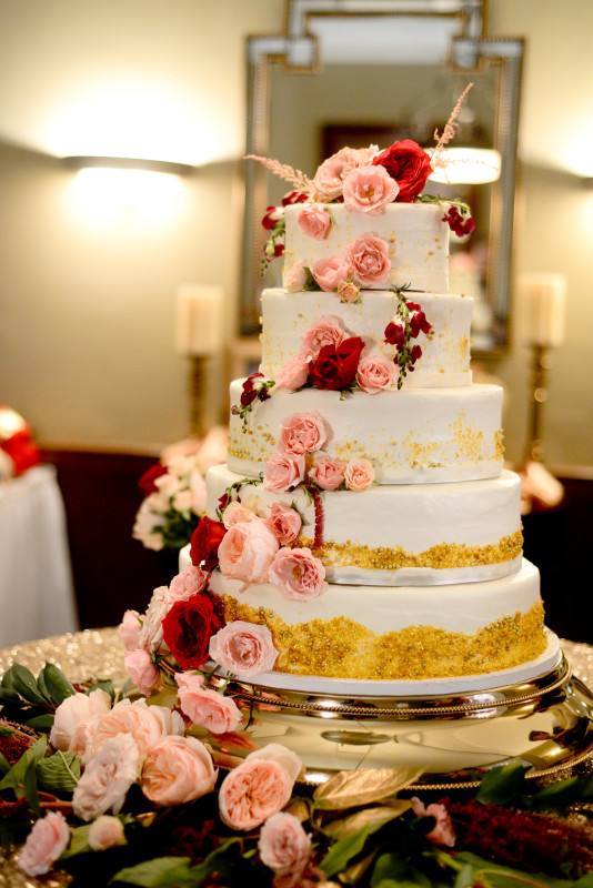 Parkersburg Country Club West Virginia Wedding Tall Cake