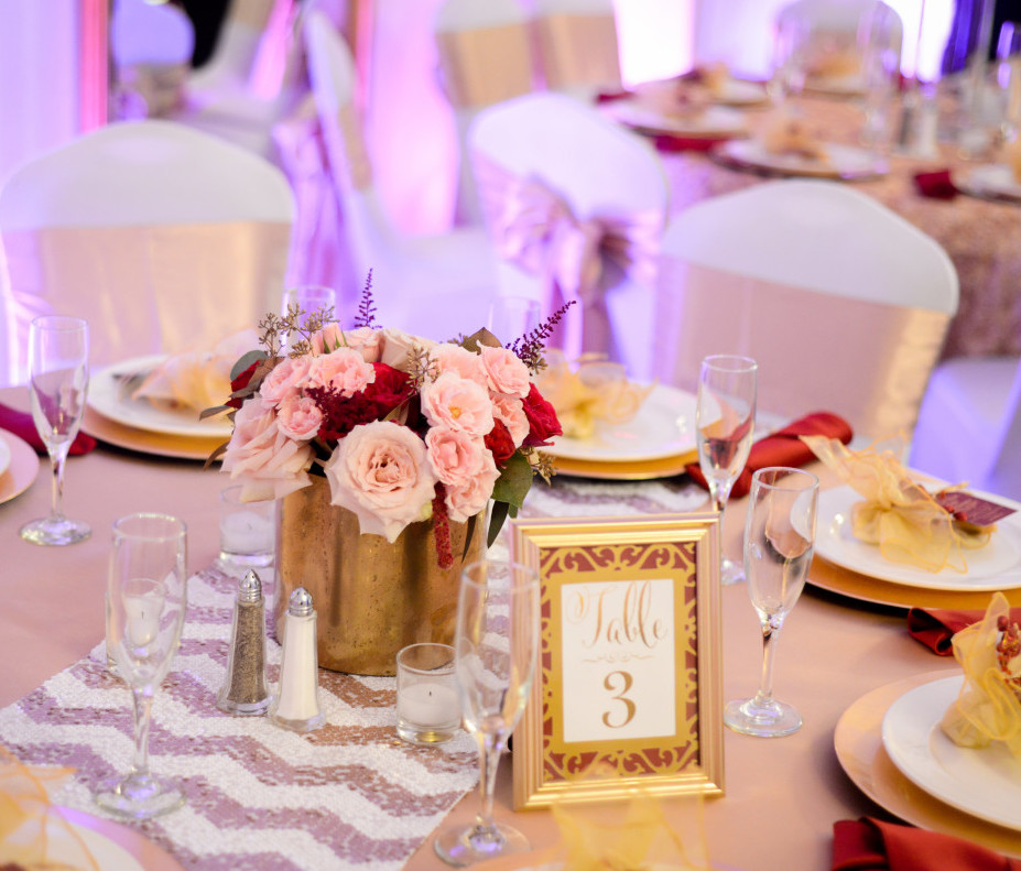 Parkersburg Country Club West Virginia Wedding Gold Numbers