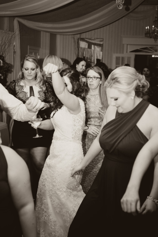 Parkersburg Country Club West Virginia Wedding Black and White Dancing