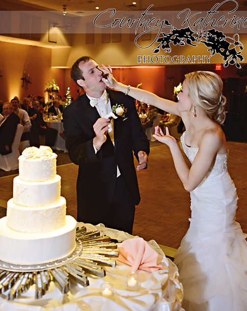 Blair County Convention Center Pittsburgh Wedding Cake Cutting