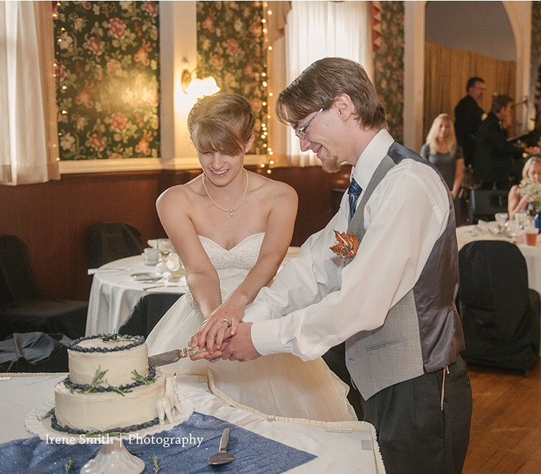 The Commons Franklin Pennsylvania Wedding Cutting the Cake
