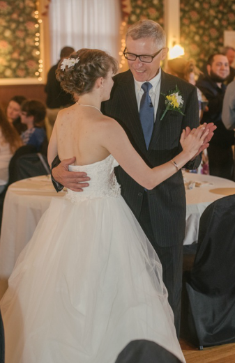 The Commons Franklin Pennsylvania Wedding Bride and Father Dancing