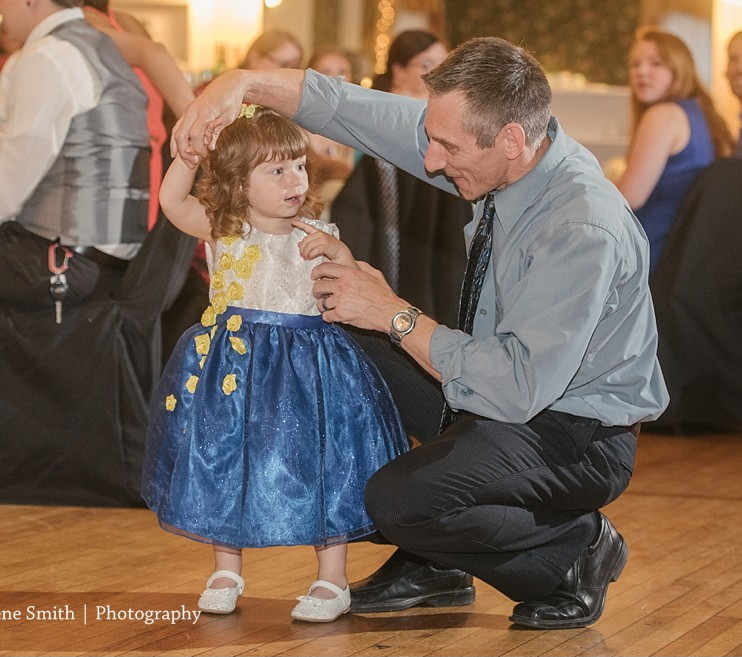 The Commons Franklin Pennsylvania Wedding Flower Girl Dancing
