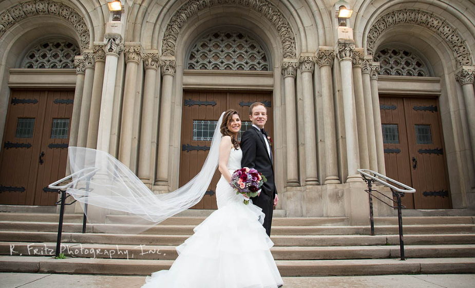 University Club Pittsburgh Wedding Bride and Groom