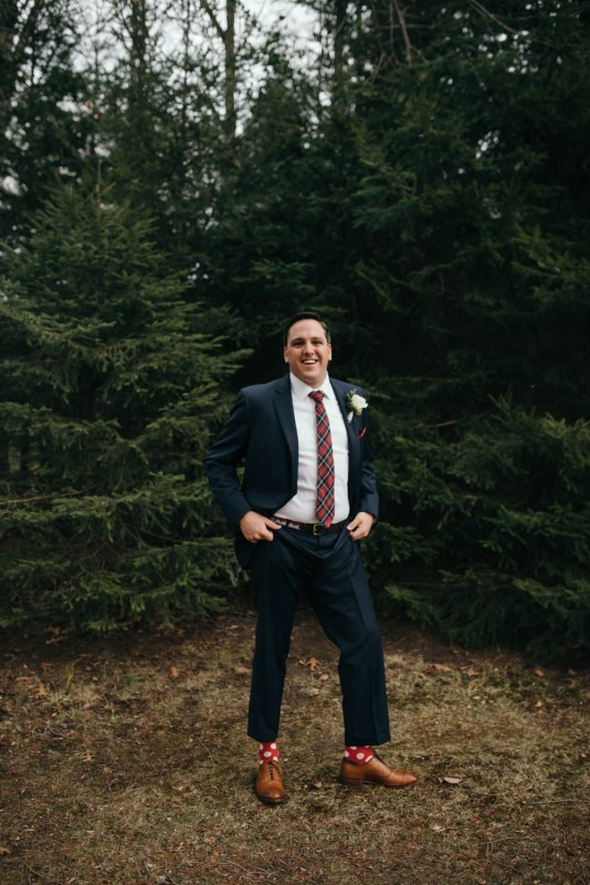 Country Club Pittsburgh Wedding Groom Alone
