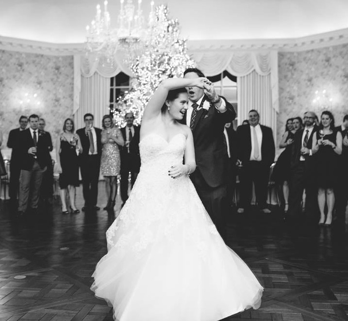 Country Club Pittsburgh Bride Twirling