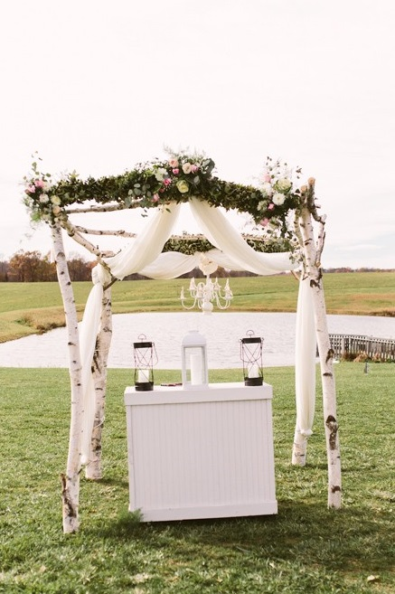 White Barn Pittsburgh Wedding White Elm Altar