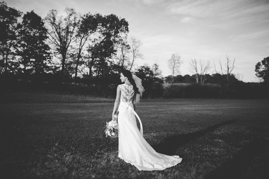 White Barn Pittsburgh Wedding Bride Gown Shot