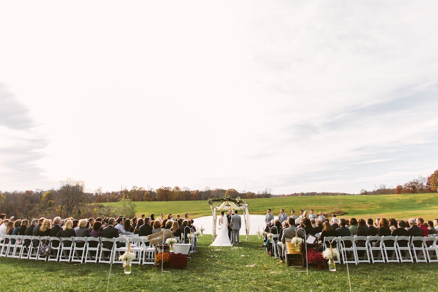 White Barn Pittsburgh Wedding Outdoor Ceremony