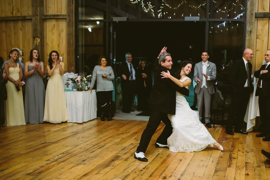 White Barn Pittsburgh Wedding Dancing with Dad