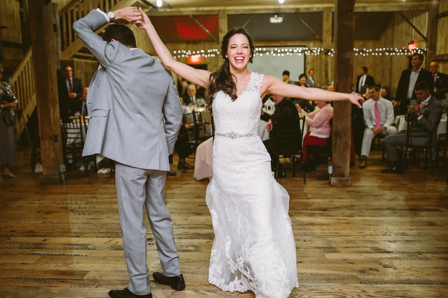 White Barn Pittsburgh Wedding Bride and Groom First Dance